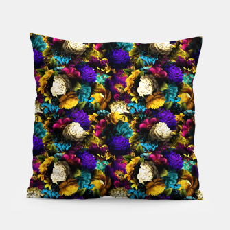 Miniatur melancholy flowers small seamless pattern 01 Pillow, Live Heroes