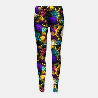 Miniatur melancholy flowers small seamless pattern 01 Girl's leggings, Live Heroes
