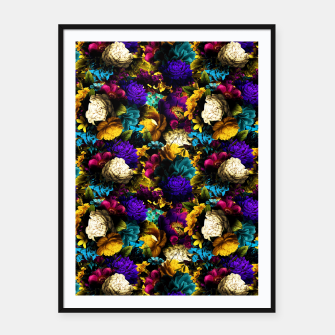 Miniatur melancholy flowers small seamless pattern 01 Framed poster, Live Heroes