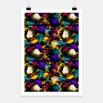 Miniatur melancholy flowers small seamless pattern 01 Poster, Live Heroes
