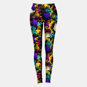 Miniatur melancholy flowers small seamless pattern 01 Leggings, Live Heroes