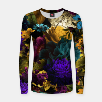 Thumbnail image of melancholy flowers big seamless pattern 01 Women sweater, Live Heroes
