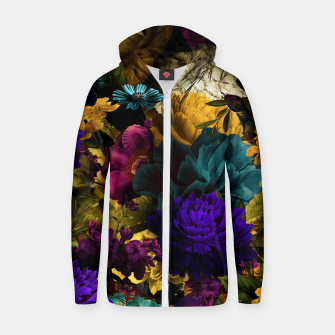 Thumbnail image of melancholy flowers big seamless pattern 01 Zip up hoodie, Live Heroes