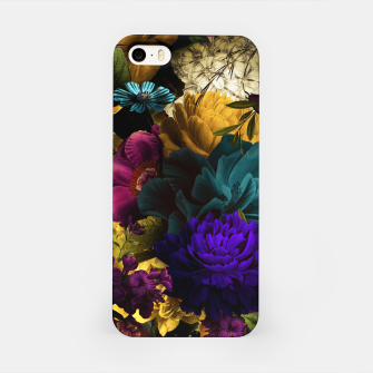Miniatur melancholy flowers big seamless pattern 01 iPhone Case, Live Heroes