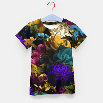 Thumbnail image of melancholy flowers big seamless pattern 01 Kid's t-shirt, Live Heroes