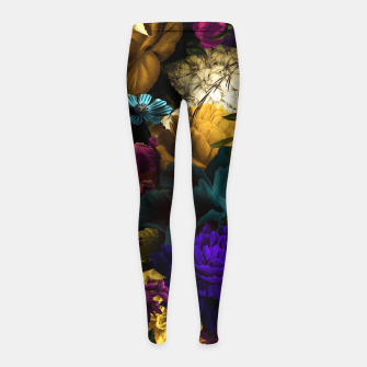 Thumbnail image of melancholy flowers big seamless pattern 01 Girl's leggings, Live Heroes