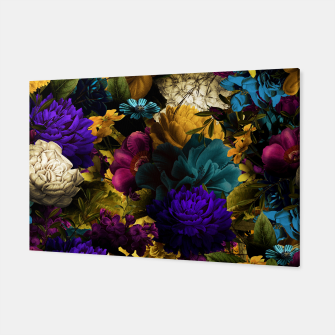 Miniatur melancholy flowers big seamless pattern 01 Canvas, Live Heroes
