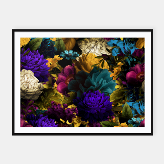 Thumbnail image of melancholy flowers big seamless pattern 01 Framed poster, Live Heroes