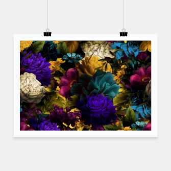 Thumbnail image of melancholy flowers big seamless pattern 01 Poster, Live Heroes