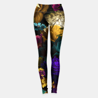 Miniatur melancholy flowers big seamless pattern 01 Leggings, Live Heroes