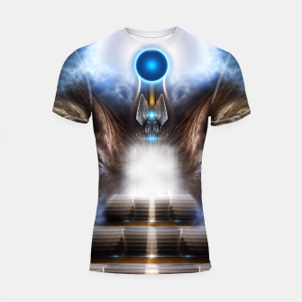 Thumbnail image of The Temple Of Heaven Shortsleeve rashguard, Live Heroes