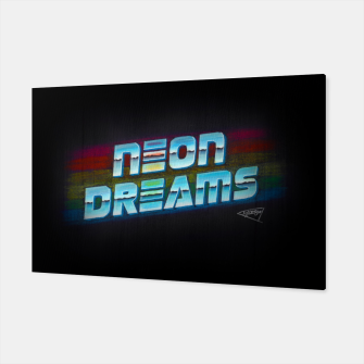 Thumbnail image of Neon Dreams Canvas, Live Heroes