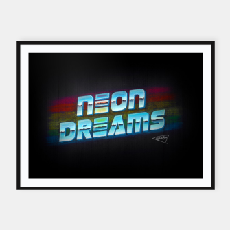 Thumbnail image of Neon Dreams Framed poster, Live Heroes