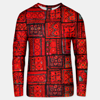 Miniaturka Lovely Red Traditional Moroccan Pattern Artwork. Unisex sweater, Live Heroes