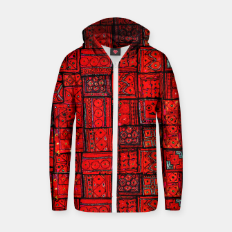 Miniature de image de Lovely Red Traditional Moroccan Pattern Artwork. Zip up hoodie, Live Heroes