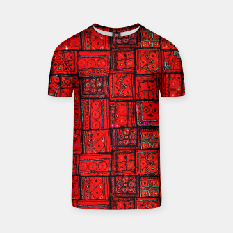 Miniaturka Lovely Red Traditional Moroccan Pattern Artwork. T-shirt, Live Heroes