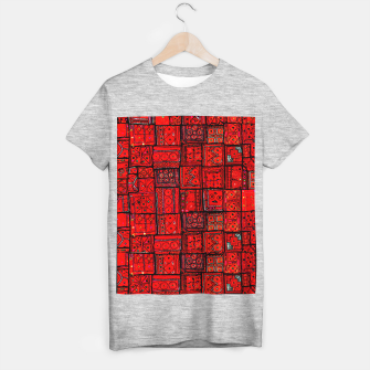 Imagen en miniatura de Lovely Red Traditional Moroccan Pattern Artwork. T-shirt regular, Live Heroes