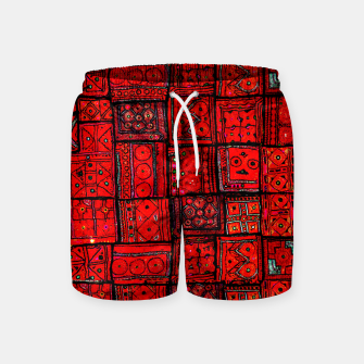 Miniaturka Lovely Red Traditional Moroccan Pattern Artwork. Swim Shorts, Live Heroes