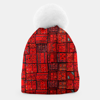 Miniaturka Lovely Red Traditional Moroccan Pattern Artwork. Beanie, Live Heroes