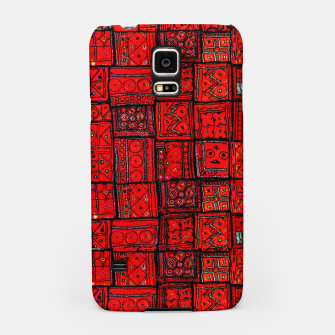 Miniaturka Lovely Red Traditional Moroccan Pattern Artwork. Samsung Case, Live Heroes