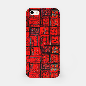 Imagen en miniatura de Lovely Red Traditional Moroccan Pattern Artwork. iPhone Case, Live Heroes