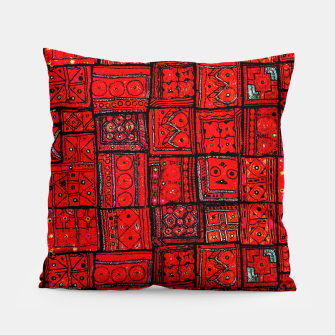Miniaturka Lovely Red Traditional Moroccan Pattern Artwork. Pillow, Live Heroes