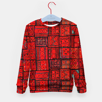 Imagen en miniatura de Lovely Red Traditional Moroccan Pattern Artwork. Kid's sweater, Live Heroes
