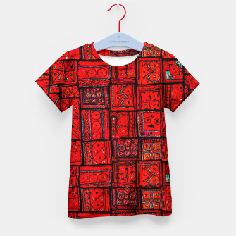 Miniaturka Lovely Red Traditional Moroccan Pattern Artwork. Kid's t-shirt, Live Heroes