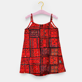 Miniaturka Lovely Red Traditional Moroccan Pattern Artwork. Girl's dress, Live Heroes