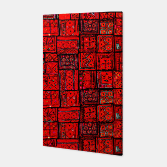 Miniaturka Lovely Red Traditional Moroccan Pattern Artwork. Canvas, Live Heroes