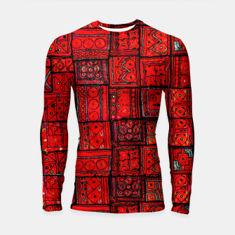 Miniaturka Lovely Red Traditional Moroccan Pattern Artwork. Longsleeve rashguard , Live Heroes