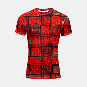 Miniaturka Lovely Red Traditional Moroccan Pattern Artwork. Shortsleeve rashguard, Live Heroes
