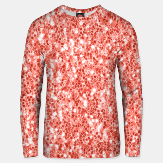 Thumbnail image of Living coral dark glitter sparkles Unisex sweater, Live Heroes