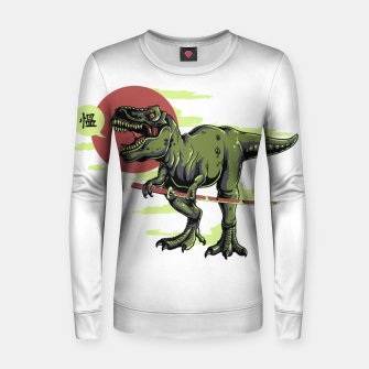 Thumbnail image of The Last Samurai in Dinosaurs. Women sweater, Live Heroes