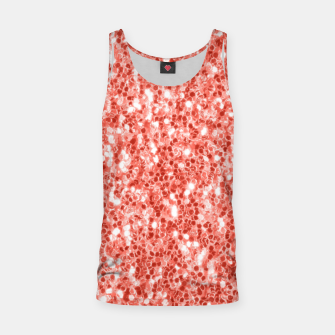 Thumbnail image of Living coral dark glitter sparkles Tank Top, Live Heroes