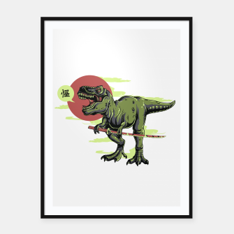 Thumbnail image of The Last Samurai in Dinosaurs. Framed poster, Live Heroes