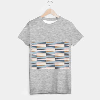 Imagen en miniatura de Scandinavian Geometry Pattern Blue #Homedecor T-shirt regular, Live Heroes