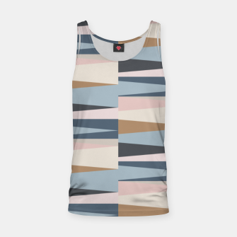 Imagen en miniatura de Scandinavian Geometry Pattern Blue #Homedecor Tank Top, Live Heroes