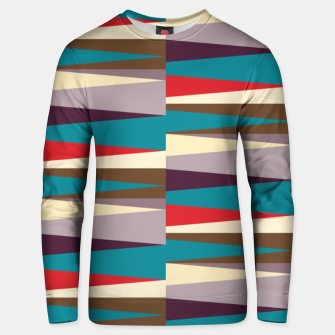 Thumbnail image of Scandinavian Geometry Pattern Red #Homedecor Unisex sweater, Live Heroes