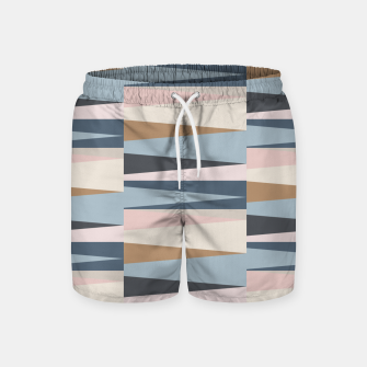 Thumbnail image of Scandinavian Geometry Pattern Blue #Homedecor Swim Shorts, Live Heroes
