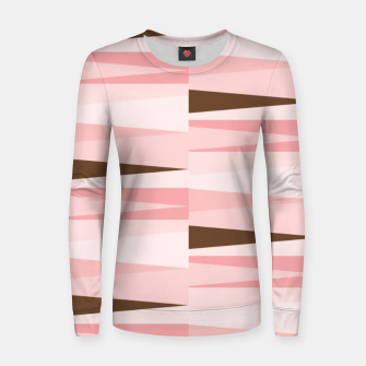 Thumbnail image of Scandinavian Geometry Pattern Pink #Homedecor Women sweater, Live Heroes