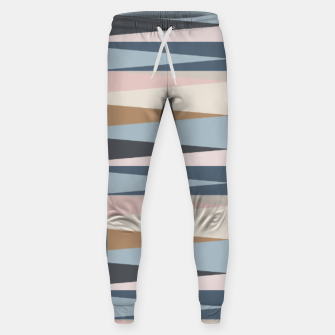 Imagen en miniatura de Scandinavian Geometry Pattern Blue #Homedecor Sweatpants, Live Heroes