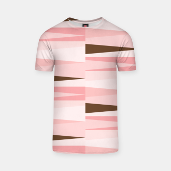 Thumbnail image of Scandinavian Geometry Pattern Pink #Homedecor T-shirt, Live Heroes
