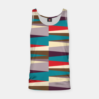 Imagen en miniatura de Scandinavian Geometry Pattern Red #Homedecor Tank Top, Live Heroes