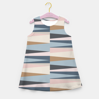 Imagen en miniatura de Scandinavian Geometry Pattern Blue #Homedecor Girl's summer dress, Live Heroes
