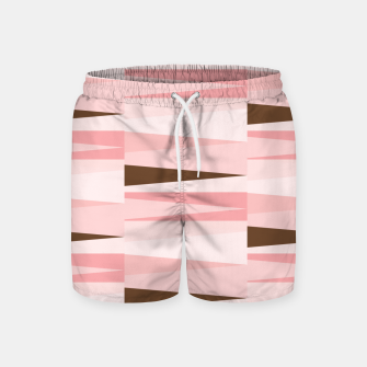 Thumbnail image of Scandinavian Geometry Pattern Pink #Homedecor Swim Shorts, Live Heroes