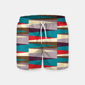 Imagen en miniatura de Scandinavian Geometry Pattern Red #Homedecor Swim Shorts, Live Heroes