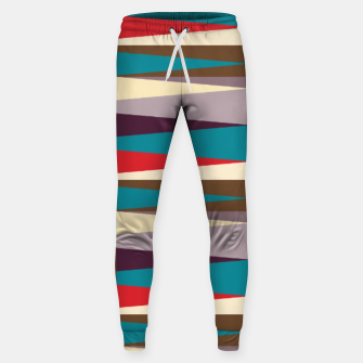 Imagen en miniatura de Scandinavian Geometry Pattern Red #Homedecor Sweatpants, Live Heroes