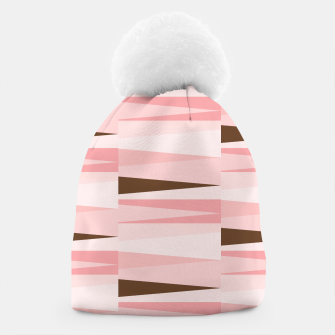 Thumbnail image of Scandinavian Geometry Pattern Pink #Homedecor Beanie, Live Heroes