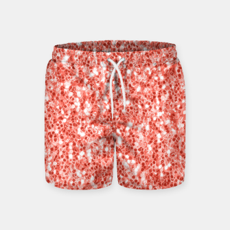 Thumbnail image of Living coral dark glitter sparkles Swim Shorts, Live Heroes